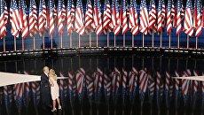 Дональд Трамп с дочерью Иванкой на съезде Республиканской партии США в Огайо. 22 июля 2016