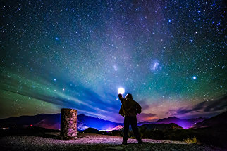 Снимок Coronet Peak Light Pollution plus Air Glow фотографа Stephen Humpleby на конкурсе фотографий ночного неба 2016 CWAS AstroFest The David Malin Awards