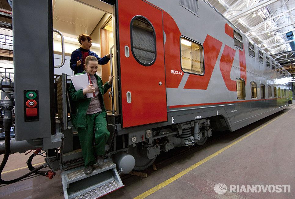 Двухэтажный пассажирский вагон на ОАО Тверской вагоностроительный завод