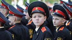 Курсанты суворовского военного училища. Архивное фото