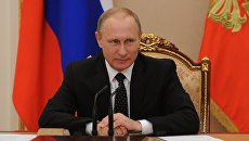 Президент России Владимир Путин проводит совещание с постоянными членами Совета безопасности РФ в Кремле. 26 июля 2016