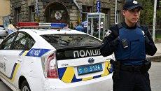 Сотрудники Украинской полиции в Киеве. Архивное фото