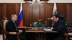 Рабочая встреча президента РФ В. Путина с вице-премьером РФ А. Хлопониным