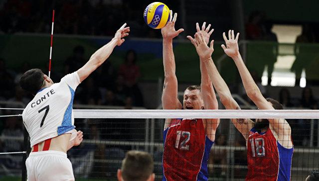 Матч группы В мужского волейбольного турнира между сборными командами России и Аргентины. 9 августа 2016