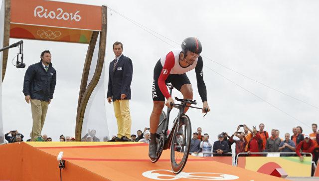 Швейцарский велогонщик Канчеллара завоевал золото ОИ-2016 вгонке сраздельным стартом