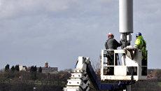 Инженерные работы на телекоммуникационной мачте