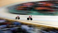 Анастасия Войнова и Дарья Шмелева в финале командного спринта. Архивное фото