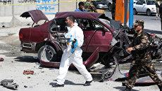 Последствия взрыва в Афганистане. Архивное фото
