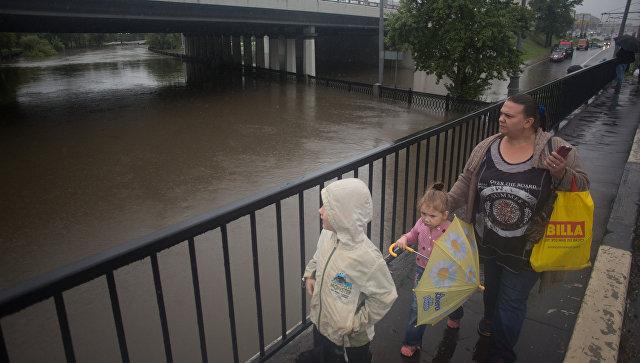В российской столице три реки вышли изберегов из-за дождя