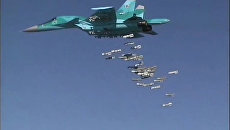 Бомбардировщик Су-34 ВКС РФ в Сирии. Архивное фото