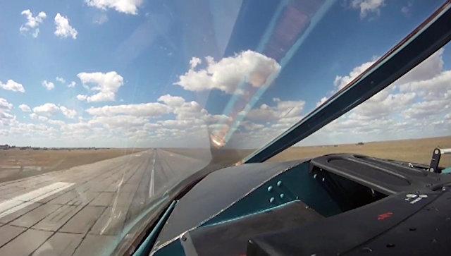 Авиаудары бомбардировщиков Су-34 ВКС РФ с авиабазы Хамадан Архивное фото