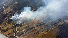 Село Мокок Цунтинского района Республики Дагестан, где 21 августа произошел пожар
