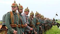 Участники исторической реконструкции на фестивале Гумбинненское сражение