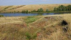 Овраги у реки Большая Погромка в Оренбургской области
