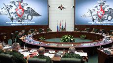 Министр обороны РФ Сергей Шойгу на заседании коллегии Министерства обороны РФ. 23 августа 2016