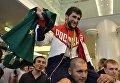 Аниуар Гедуев во время церемонии встречи в аэропорту Шереметьево