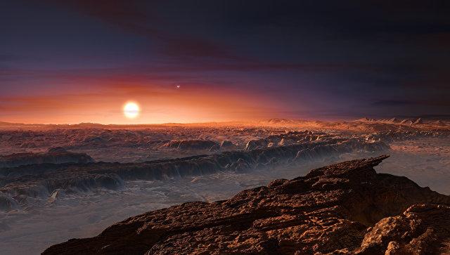 Так художник представил поверхность планеты у Проксимы Центавра. Архивное фото