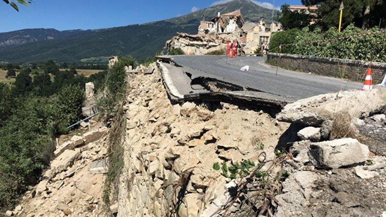 В центральной Италии произошло сильное землетрясение  РИА