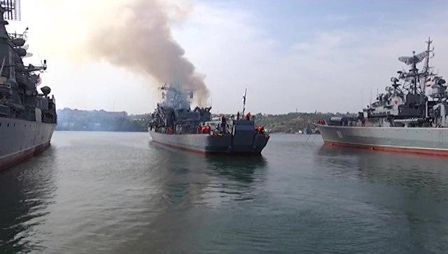 Выход в море кораблей Черноморского флота. Архивное фото