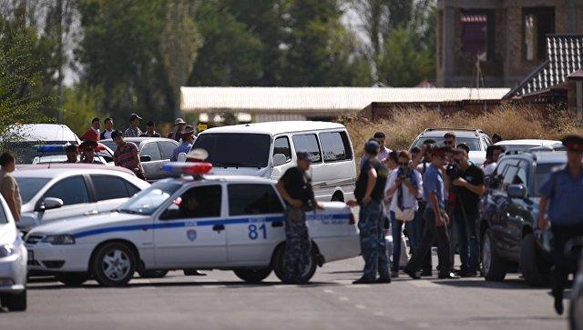 Взрыв у здания китайского посольства в Бишкеке. Архивное фото