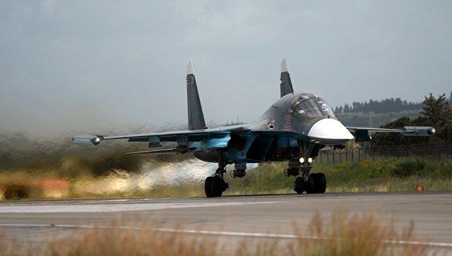 Российский истребитель Су-34 в Сирии. Архивное фото