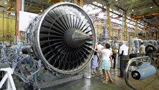 Двигатель Д-18Т в цеху ОАО Мотор Сич в Запорожье