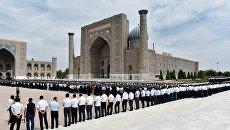 Похороны президента Узбекистана Ислама Каримова. 3 сентября 2016. Архивное фото