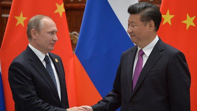 Президент РФ Владимир Путин и председатель КНР Си Цзиньпин. Архивное фото