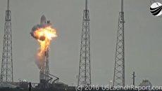 Взрыв ракеты Falcon 9 на стартовой площадке SpaceX на космодроме на мысе Канаверал, США. Архивное фото