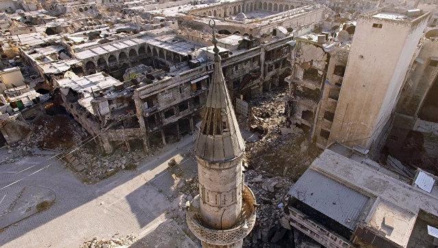 Восточные кварталы Алеппо, захваченные боевиками