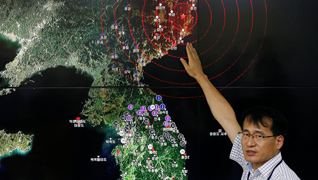 Геологическая служба США: вКорее произошел взрыв, ноне землетрясение