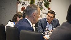 Алексис Ципрас на российско-греческом бизнес-форуме