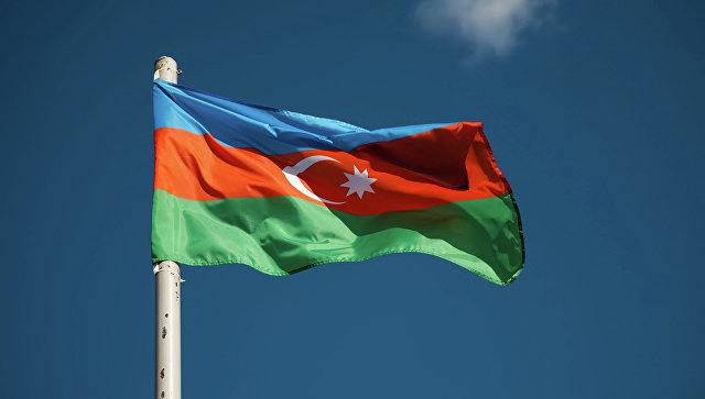 Флаг Азербайджана. Архивное фото