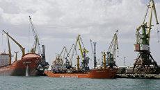 В морском порту Новороссийска. Архивное фото