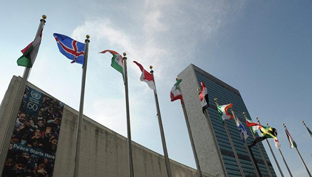 В Нью-Йорке к зданию ООН прибыли десятки пожарных машин