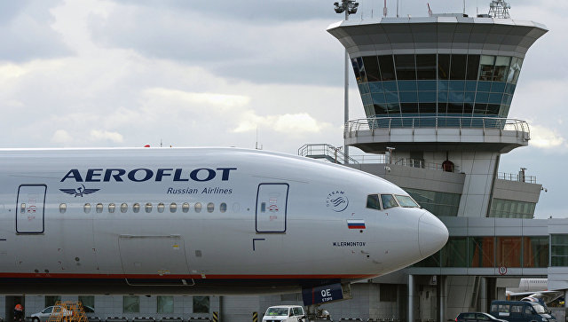 Самолет Boeing 777 авиакомпании Аэрофлот в международном аэропорту Шереметьево.Архивное фото