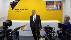 Сергей Лавров на церемонии открытия редакционного центра Sputnik Кыргызстан в Бишкеке. 16 сентября 2016