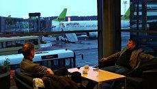 Работа международного аэропорта Рига. Архивное фото