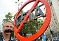 Акция протеста против соглашения о трансатлантической торговле (TTIP) в Берлине