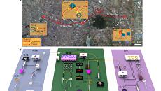 Карта и схема эксперимента в городе Хэфэй, Китай