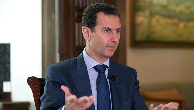 Асад: коалиция США более часа наносила авиаудары по сирийским военным