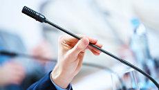 Микрофон в аудитории