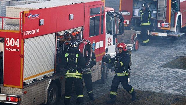 Пожар на складе в Мытищах локализовали