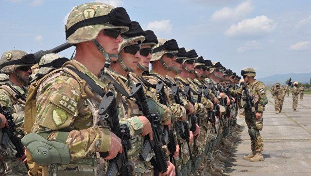 Военнослужащие Грузинской армии во время совместных учений НАТО в Тбилиси, Грузия. Архивное фото