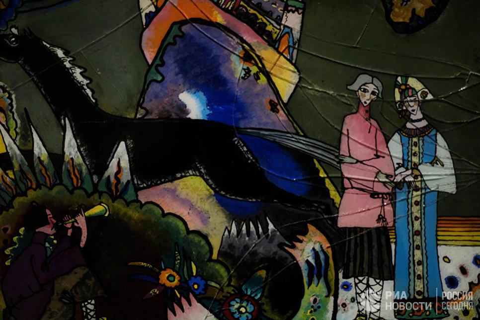 Одна из работ выставки Василий Кандинский и Россия в корпусе Бенуа Русского музея в Санкт-Петербурге