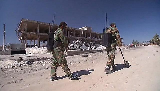 Сирийские саперы за работой: поиск и обезвреживание мин в Алеппо