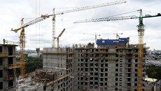 Строительство городского квартала в Москве. Архивное фото