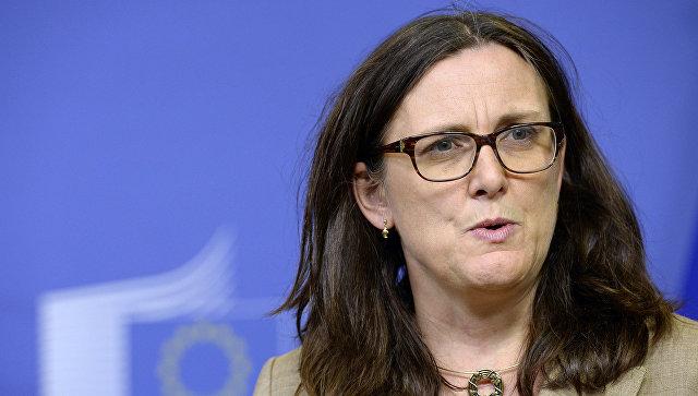 Еврокомиссар по торговле Сесилия Мальмстрем. Архивное фото