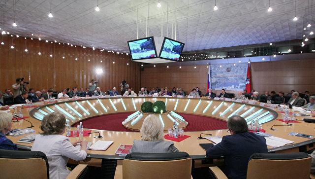 Заседание Общественной палаты Москвы. Архивное фото
