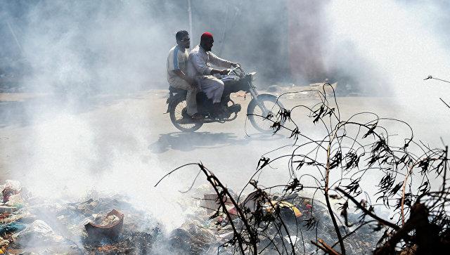 Загрязненный воздух в Карачи, Пакистан